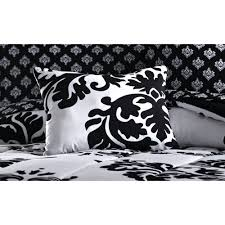Black And White Daybed Bedding Sets Mainstays Classic Noir Bed In A Bag Bedding Set Walmart Com