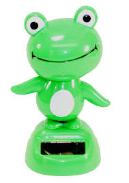 Frog Desk Accessories Green Frog Animal Solar Toys Dashboard