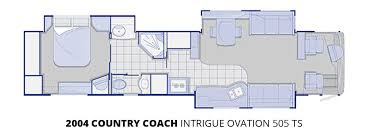 country coach floor plans 2004 country coach intrigue ovation u2013 stock c00076 the rv man