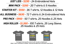 affordable custom screen printed hats shirts hoodies promotion