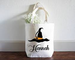 personalized halloween bag trick or treat bag halloween tote