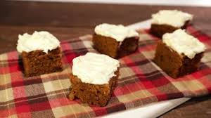 pumpkin bars with cheese icing recipe the chew