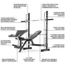 marcy tsa 5762 half smith machine and weight bench amazon co uk