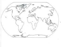 Blank Color World Map by Continent Clipart Map Reading Pencil And In Color Continent