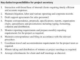 Sample Resume For Legal Secretary by Secretary Job Description Gallery Of Legal Secretary Job