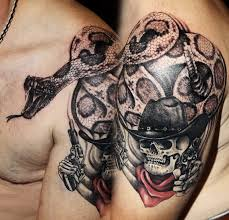 cowboy skull tattoos images reverse search