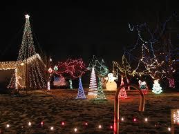 rope light trees lights decoration