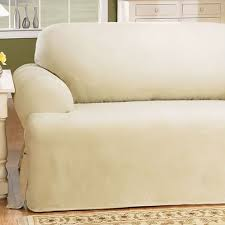 2 piece t cushion sofa slipcover sure fit cotton duck t cushion sofa slipcover u0026 reviews wayfair