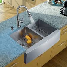 Kitchen Sink With Faucet Set Vigo All In One 33 Inch Stainless Steel Farmhouse Kitchen Sink And