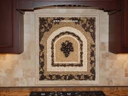 kitchen backsplash medallions kitchen kitchen mosaic tile backsplash grapes medallions