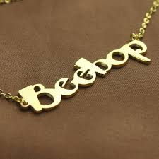make your own name necklace create your own name necklace 18k gold plated