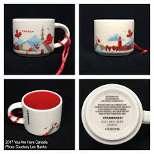 2017 you are here canada starbucks ornament