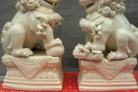 white foo dogs free shipping china royal white porcelain evil beast kylin kirin