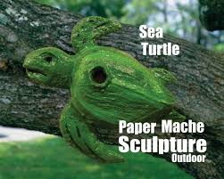 diy sea turtle paper mache outdoor weather resistant bird house