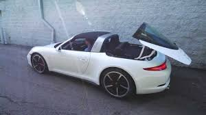 porsche 911 targa 2015 2015 porsche targa 991 911 roof mechanism in operation porsche