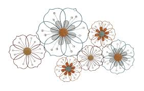 Wall Flower Decor by Metal Flower Wall Decor Shenra Com