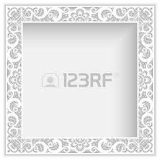 frame with lace border pattern cutout paper ornament