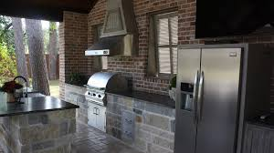 Cabana Ideas by Beautiful Custom Full Outdoor Kitchen Cabana And Size Refrigerator