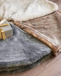 brown tree skirt lodge faux fur tree skirt balsam hill