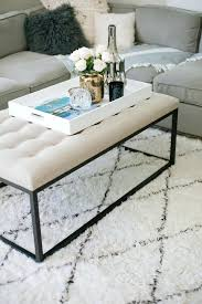 Table Top Ideas Brilliant Large Tray For Ottoman Styling Ideas Within Coffee Table
