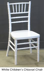 white chair rentals child s white chiavari chair town country event rentals
