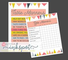 table manners for kids printable kids table manners set of 2 digital printables kids chart