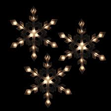 white icicle christmas lights set of 3 clear lighted snowflake icicle christmas lights white wire
