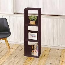 Bookshelf 3 Shelf 3 Shelf Narrow Bookshelf In Espresso Formaldehyde Free Way Basics