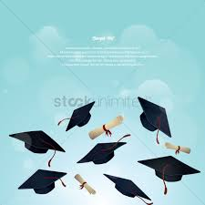 graduation poster graduation hat and certificate poster vector image 1519367