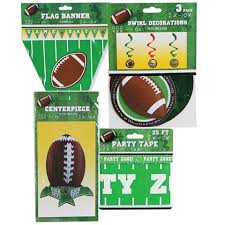 football party decorations bulk assorted football party décor at dollartree