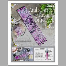 bracelet beading pattern images Arabesque fuchsia bracelet bead pattern francesca 39 s fancy jpg
