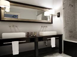 witching double vanity mirrors for bathroom close to swing arm