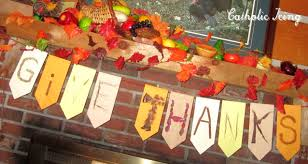 give thanks banner a diy bunting for thanksgiving