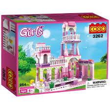 amazon com cogo girls princess castle royal feast kids toys