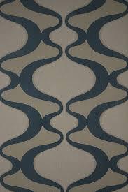 verner panton design 1970s blue geometric vinyl wallpaper for