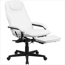 high back white leather executive reclining office chair for