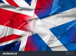 waving scotland united kingdom flag stock illustration 218189881