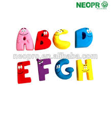 eco friendly cartoon fridge magnetic letter safe for kids wooden