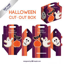 Halloween Cut Outs Cute Halloween Cut Out Box Vector Free Download