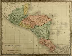 Map Of Middle America by Map Of Central America C 1885