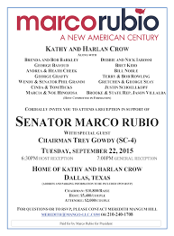marco rubio to hold major fundraiser sept 22 in affluent dallas