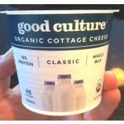 Friendship Cottage Cheese Nutrition by Good Culture Organic Cottage Cheese Calories Nutrition Analysis