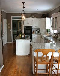 Benjamin Moore Paint For Cabinets Kitchen Renovation With New Granite Countertops Stainless
