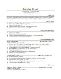 Example Of Resume Objective Resume by 16 Free Medical Assistant Resume Templates