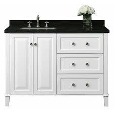 Bathroom Vanity With Drawers by Shop Ancerre Designs Hannah White Undermount Single Sink Bathroom