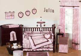 Brown Baby Crib Bedding Pink And Brown Toile Baby Crib Bedding 9pc Nursery Set Loversiq