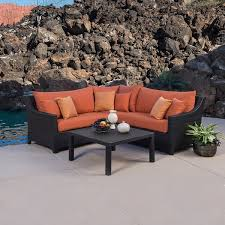 Sectional Patio Furniture Sets Rst Outdoor Tikka 4 Corner Sectional Sofa And Coffee Table