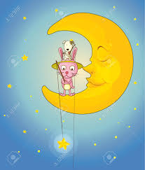 catdog illustration of a cat dog and moon in night sky royalty free