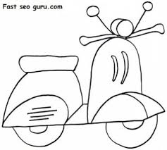 print out scooter coloring in sheets printable coloring pages