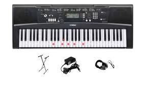 yamaha keyboard lighted keys yamaha ez220 lighted 61 key portable keyboard premium package
